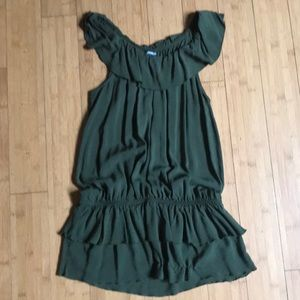Express sleeveless olive green top